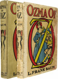 Books:First Editions, Two Copies of L. Frank Baum's Ozma of Oz....