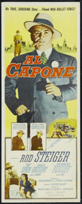 "Movie Posters:Crime, Al Capone (Allied Artists, 1959). Insert (14"" X 36""). Crime.Directed by Richard Wilson. Starring Rod Steiger, Fay Spain, Ma..."