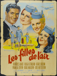 """Come Fly with Me (MGM, 1963). French Grande (47"""" X 63""""). Romantic Comedy. Directed by Henry Levin. Starring Do..."""