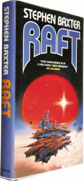Books:Signed Editions, Stephen Baxter: Signed Review Copy of Raft (London: GraftonBooks, 1991), first edition, 264 pages, blue cloth with silv...(Total: 1 Item)