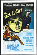"Movie Posters:War, The Face of the Cat (Ellis Films, 1959). One Sheet (27"" X 41"").War. Directed by Henri Decoin. Starring Françoise Arnoul, Be..."