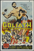 "Movie Posters:Adventure, Goliath and the Barbarians (American International, 1959). OneSheet (27"" X 41""). Adventure. Directed by Carlo Campogalliani..."