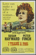 """Movie Posters:Drama, I Thank a Fool (MGM, 1962). One Sheet (27"""" X 41""""). Crime. Directed by Robert Stevens. Starring Susan Hayward, Peter Finch, D..."""