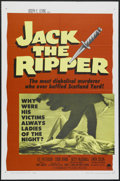 "Movie Posters:Mystery, Jack the Ripper (Paramount, 1960). One Sheet (27"" X 41""). Thriller.Directed by Robert Baker and Monty Berman. Starring Lee ..."