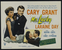 "Mr. Lucky (RKO, 1943). Title Lobby Card (11"" X 14""). Comedy. Directed by H.C. Potter. Starring Cary Grant, Lar..."