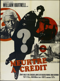 """Murder in Reverse (Four Continents, R-1960s). French Grande (47"""" X 63""""). Thriller. Directed by Montgomery Tull..."""