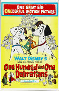 "Movie Posters:Animated, One Hundred and One Dalmatians (Buena Vista, 1961). One Sheet (27""X 41""). Children's. Directed by Clyde Geronimi, Hamilton ..."