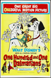 "One Hundred and One Dalmatians (Buena Vista, 1961). One Sheet (27"" X 41""). Children's. Directed by Clyde Geron..."