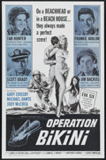 "Movie Posters:War, Operation Bikini (AIP, 1963). One Sheet (27"" X 41""). War. Directed by Anthony Carras. Starring Tab Hunter, Frankie Avalon, S..."