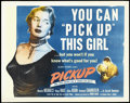 "Movie Posters:Bad Girl, Pickup (Columbia, 1951). Half Sheet (22"" X 28""). Crime. Directed byHugo Haas. Starring Haas, Beverly Michaels, Allan Nixon ..."