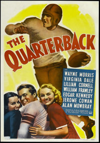 "The Quarterback (Paramount, 1940). One Sheet (27"" X 41""). Sports Comedy. Directed by H. Bruce Humberstone. Sta..."