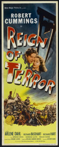 "Movie Posters:Adventure, Reign of Terror (Eagle Lion, 1949). Insert (14"" X 36""). Adventure.Directed by Anthony Mann. Starring Robert Cummings, Arlen..."