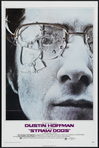 "Straw Dogs (20th Century Fox, 1971). One Sheet (27"" X 41""). Thriller. Directed by Sam Peckinpah. Starring Dust..."