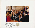 "Autographs:U.S. Presidents, George W. Bush Texas Inaugural Photograph Signed on the matte""to Neil & Sharon/Love and respect/George W. Bush.""Color,..."
