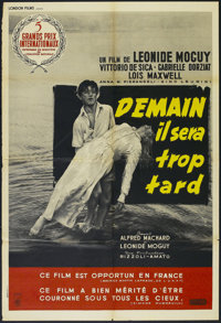 "Tomorrow Is Too Late (Joseph Burstyn Inc., 1952). French Poster (31"" X 47""). Drama. Directed by Léonide..."