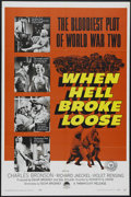 "Movie Posters:War, When Hell Broke Loose (Paramount, 1958). One Sheet (27"" X 41"").War. Directed by Kenneth G. Crane. Starring Charles Bronson,..."