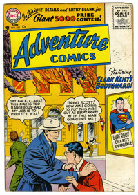 Adventure Comics #228 (DC, 1956) Condition: VG/FN. Cover by Curt Swan. Art by John Sikela, Henry Boltinoff, Ramona Frado...