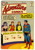 Silver Age (1956-1969):Superhero, Adventure Comics #247 (DC, 1958) Condition: GD+. First appearance of the Legion of Super-Heroes. First appearance of Cosmic ...