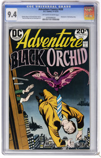 Adventure Comics #430 (DC, 1973) CGC NM 9.4 Off-white to white pages. Black Orchid cover and story. Adventurers club bac...
