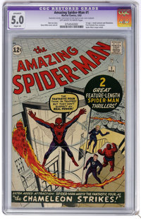 The Amazing Spider-Man #1 (Marvel, 1963) CGC Apparent VG/FN 5.0 Slight (A) Off-white to white pages. For those readers w...