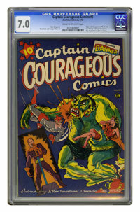 Captain Courageous Comics #6 (Periodical House (Ace Magazines), 1942) CGC FN/VF 7.0 Cream to off-white pages. Origin and...