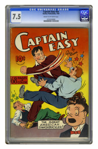 Captain Easy #nn (Hawley, 1939) CGC VF- 7.5 Cream to off-white pages. Action-packed cover featuring Captain Easy smackin...