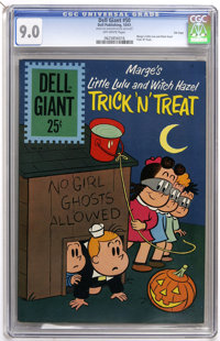 Dell Giants #50 Marge's Little Lulu and Witch Hazel Trick 'N' Treat - File Copy (Dell, 1961) CGC VF/NM 9.0 Off-white pag...