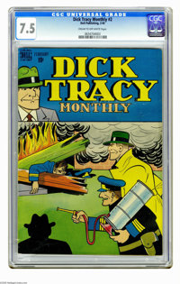 Dick Tracy Monthly #2 (Dell, 1948) CGC VF- 7.5 Cream to off-white pages. Overstreet 2005 VF 8.0 value = $174. CGC census...