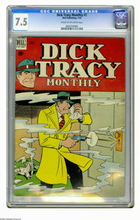 Dick Tracy Monthly #7 (Dell, 1948) CGC VF- 7.5 Cream to off-white pages. Overstreet 2006 VF 8.0 value = $155. CGC census...