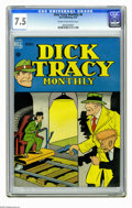 Golden Age (1938-1955):Crime, Dick Tracy Monthly #8 (Dell, 1948) CGC VF- 7.5 Cream to off-white pages. Overstreet 2006 VF 8.0 value = $155. CGC census 5/0...