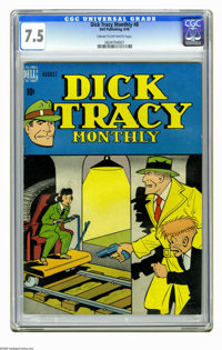 Dick Tracy Monthly #8 (Dell, 1948) CGC VF- 7.5 Cream to off-white pages. Overstreet 2006 VF 8.0 value = $155. CGC census...