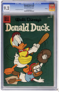 Golden Age (1938-1955):Cartoon Character, Donald Duck #49 File Copy (Dell, 1956) CGC NM- 9.2 Off-white towhite pages. Tony Strobi and Paul Murry art. Highest CGC gra...