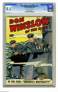 Golden Age (1938-1955):War, Don Winslow #13 Pennsylvania pedigree (Fawcett, 1944) CGC VF+ 8.5Off-white to white pages. Overstreet 2006 VF 8.0 value = $...