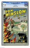 Golden Age (1938-1955):War, Don Winslow #18 Pennsylvania pedigree (Fawcett, 1944) CGC NM+ 9.6Off-white pages. Overstreet 2006 NM- 9.2 value = $220. CGC...