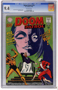 Doom Patrol #118 (DC, 1968) CGC NM 9.4 Off-white pages. Bob Brown cover. Bruno Premiani art. Overstreet 2006 NM- 9.2 val...