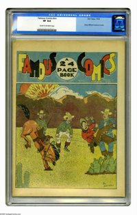 """Famous Comics #nn (Zain-Eppy, 1934) CGC VF 8.0 Cream to off-white pages. This Gerber """"8"""" has reprints from var..."""