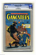 Golden Age (1938-1955):Crime, Gangsters Can't Win #1 Vancouver pedigree (D.S. Publishing, 1948) CGC NM- 9.2 White pages. True crime stories. Overstreet 20...