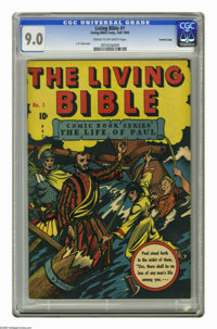 Living Bible #1 Crowley Copy pedigree (Living Bible Corp., 1945) CGC VF/NM 9.0 Cream to off-white pages. L. B. Cole cove...