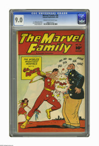The Marvel Family #26 (Fawcett, 1948) CGC VF/NM 9.0 Cream to off-white pages. C. C. Beck cover. Beck, Kurt Schaffenberge...