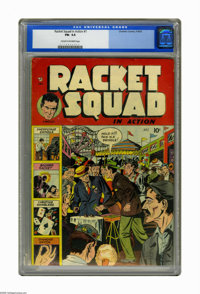 Racket Squad in Action #1 (Charlton, 1952) CGC FN- 5.5 Cream to off-white pages. Albert Tyler and Bob Forgione cover and...