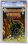 Bronze Age (1970-1979):Horror, Swamp Thing #9 (DC, 1974) CGC NM 9.4 Off-white to white pages.Bernie Wrightson cover and art. Overstreet 2006 NM- 9.2 value...
