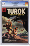 Silver Age (1956-1969):Adventure, Turok #14 File Copy (Dell, 1958) CGC VF+ 8.5 Off-white pages. Ray Bailey art. Highest CGC grade for this issue. Overstreet 2...