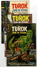 Silver Age (1956-1969):Adventure, Turok Group (Gold Key, 1964-72) Condition: Average VF/NM. Issues #41, 71 (2 copies), #73 (2), #74 (3), 76, 78, #79 (2), and ... (Total: 14 Comic Books)