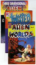Modern Age (1980-Present):Horror, Twisted Tales/Alien Worlds Group (Pacific Comics, 1982-85)Condition: Average NM-. Group of Alien and Twisted booksincludes... (Total: 18 Comic Books)