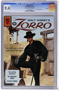 Silver Age (1956-1969):Adventure, Zorro #14 File Copy (Dell, 1961) CGC NM 9.4 Off-white to white pages. Guy Williams photo cover. Highest CGC grade for this i...