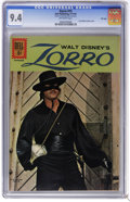 Silver Age (1956-1969):Adventure, Zorro #15 File Copy (Dell, 1961) CGC NM 9.4 Off-white pages. Last Guy Williams photo cover. Overstreet 2006 NM- 9.2 value = ...