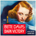 "Movie Posters:Drama, Dark Victory (Warner Brothers, 1939). Six Sheet (81"" X 81"").. ..."