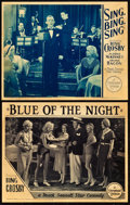 "Movie Posters:Musical, Blue of the Night / Sing, Bing, Sing (Paramount, 1933). Lobby Cards(2) (11"" X 14""). ... (Total: 2 Items)"