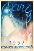 "Movie Posters:Miscellaneous, Art Deco International Exposition Paris Poster (1937). FrenchPetite (15.5"" X 23.5"").. ..."