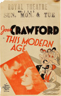 "Movie Posters:Drama, This Modern Age (MGM, 1931). Window Card (14"" X 22"").. ..."